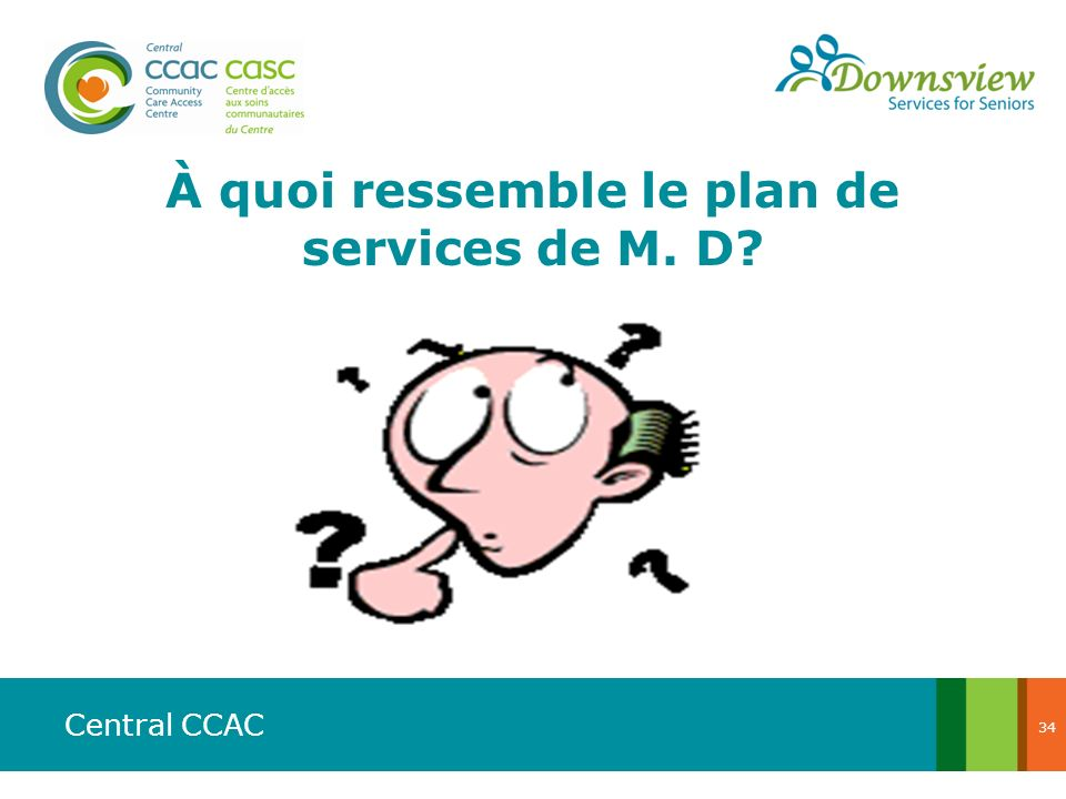 À quoi ressemble le plan de services de M. D