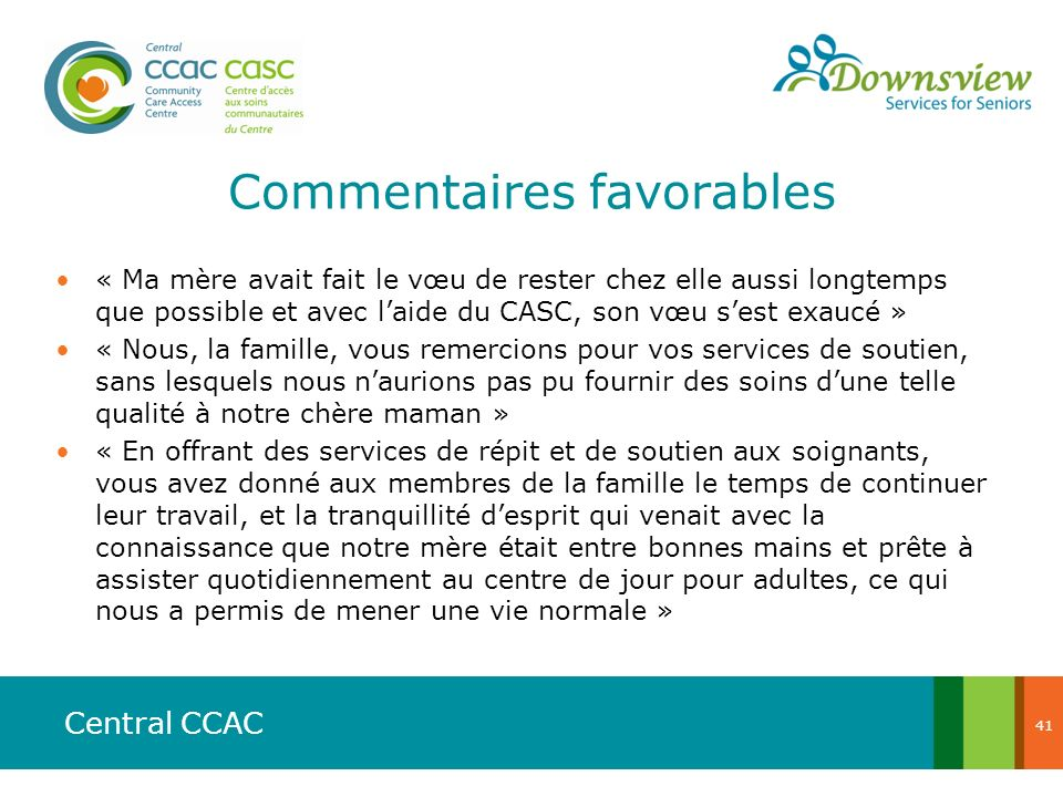 Commentaires favorables