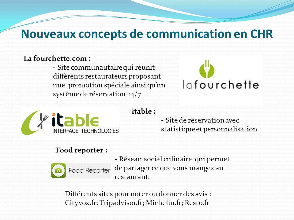 Nouveaux concepts de communication en CHR