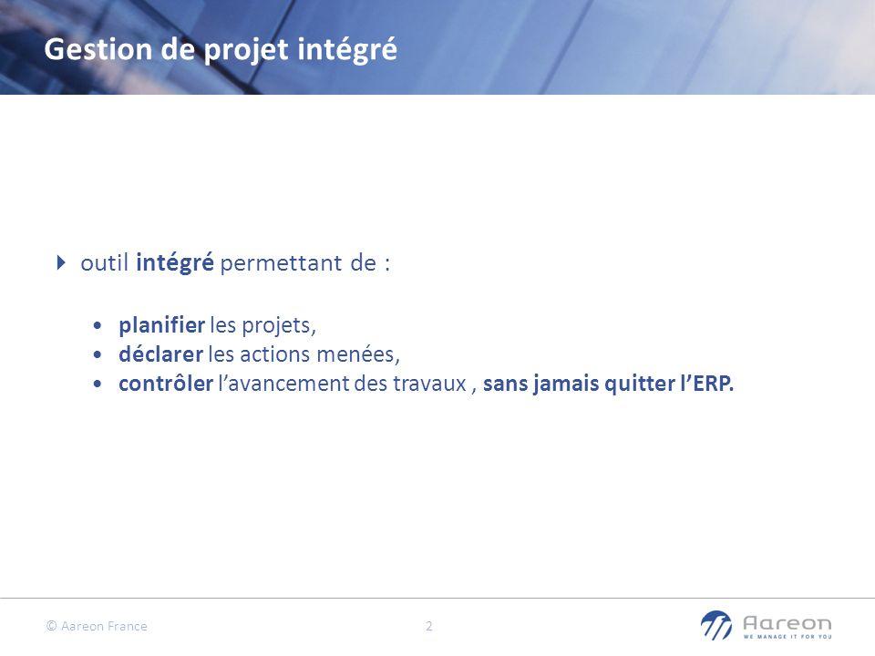 Gestion de projet intégré