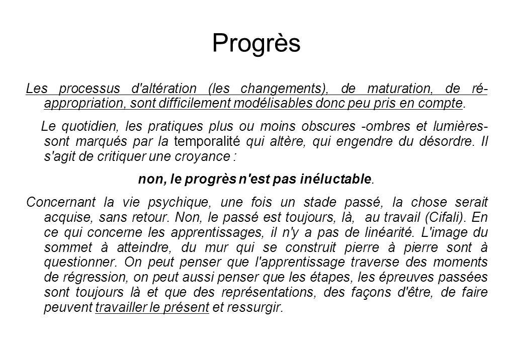 non, le progrès n est pas inéluctable.