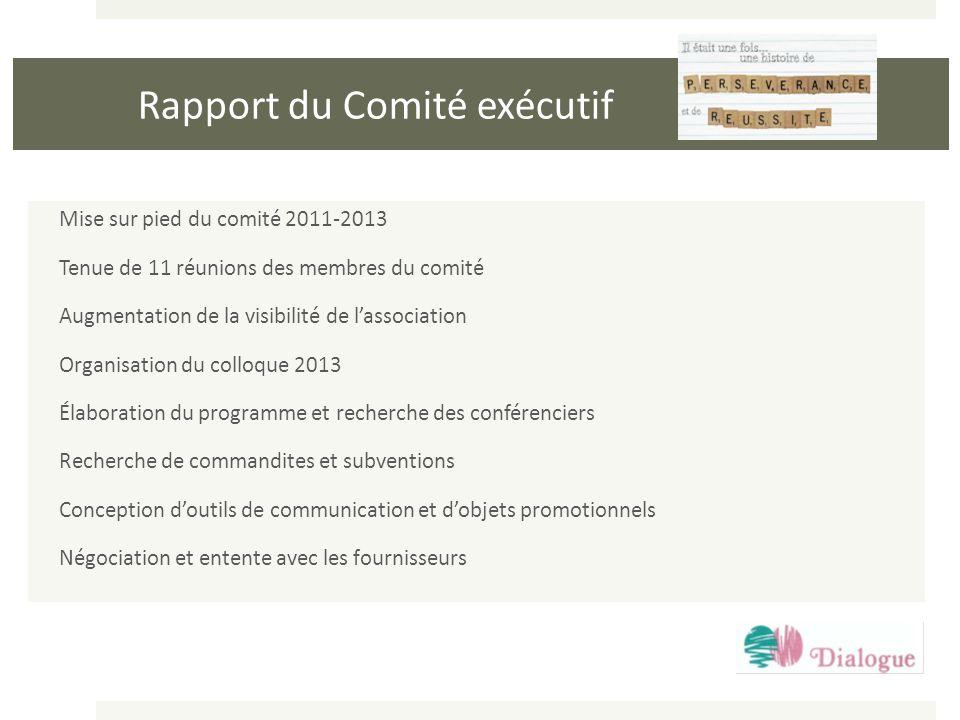 Rapport du Comité exécutif