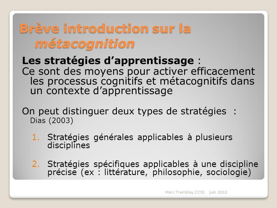 Brève introduction sur la métacognition