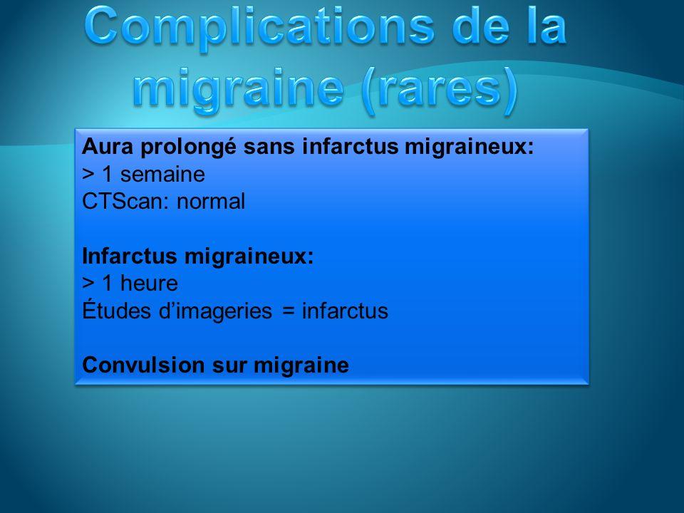 Complications de la migraine (rares)