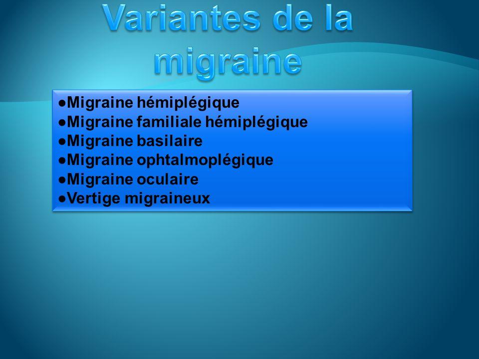 Variantes de la migraine