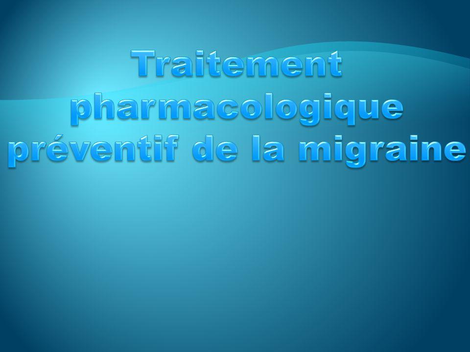 Traitement pharmacologique préventif de la migraine