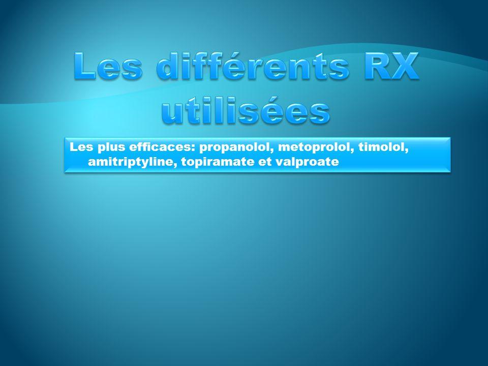 Les différents RX utilisées