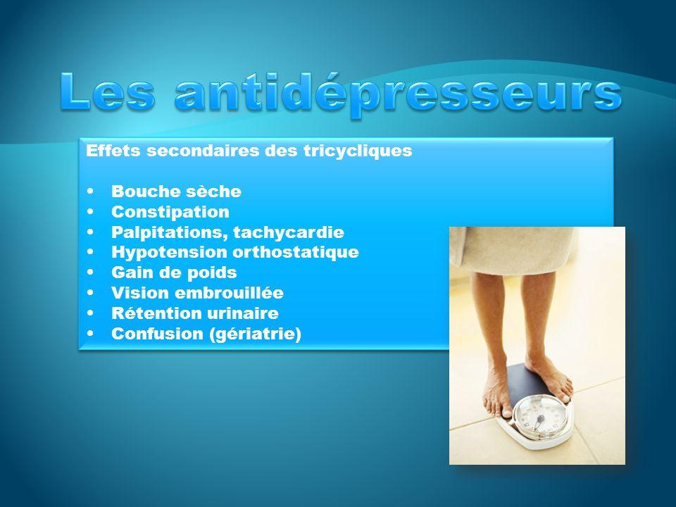 Les antidépresseurs Effets secondaires des tricycliques Bouche sèche