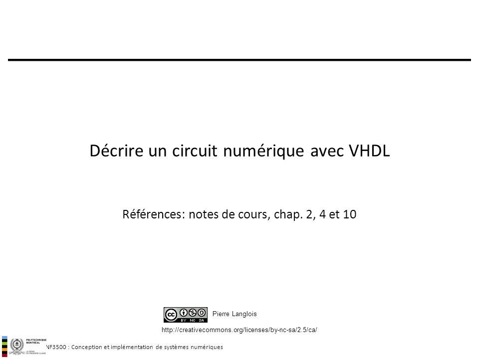 Décrire un circuit numérique avec VHDL
