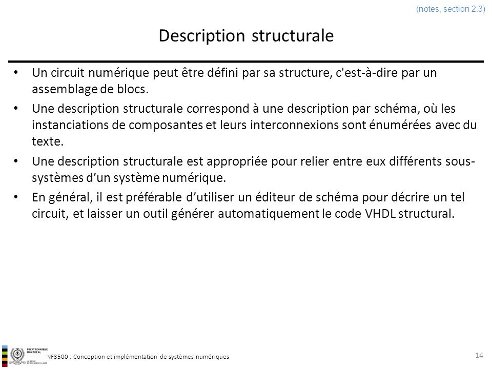 Description structurale