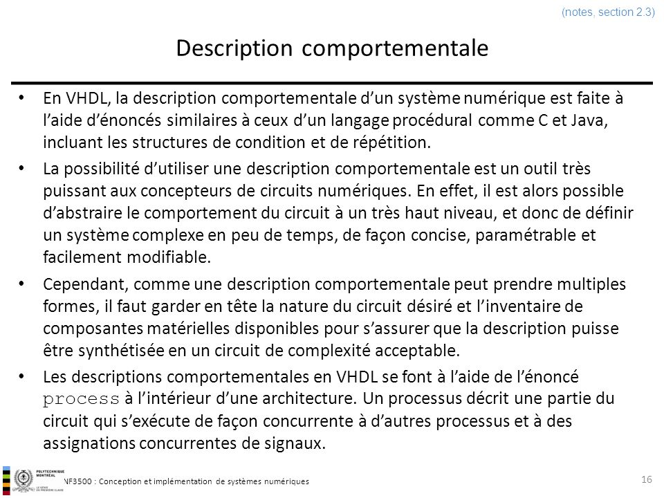 Description comportementale