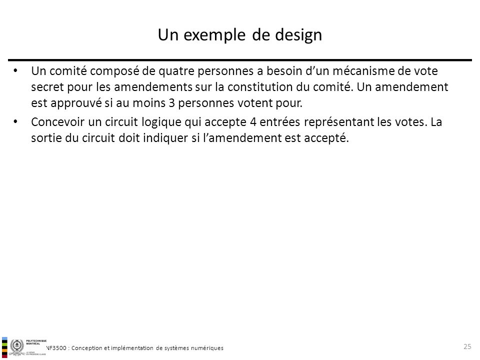 Un exemple de design