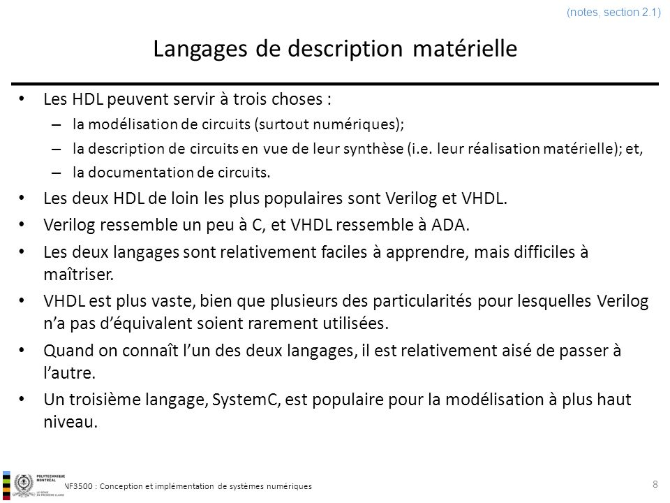 Langages de description matérielle
