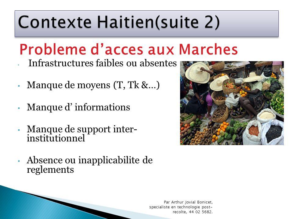 Contexte Haitien(suite 2)