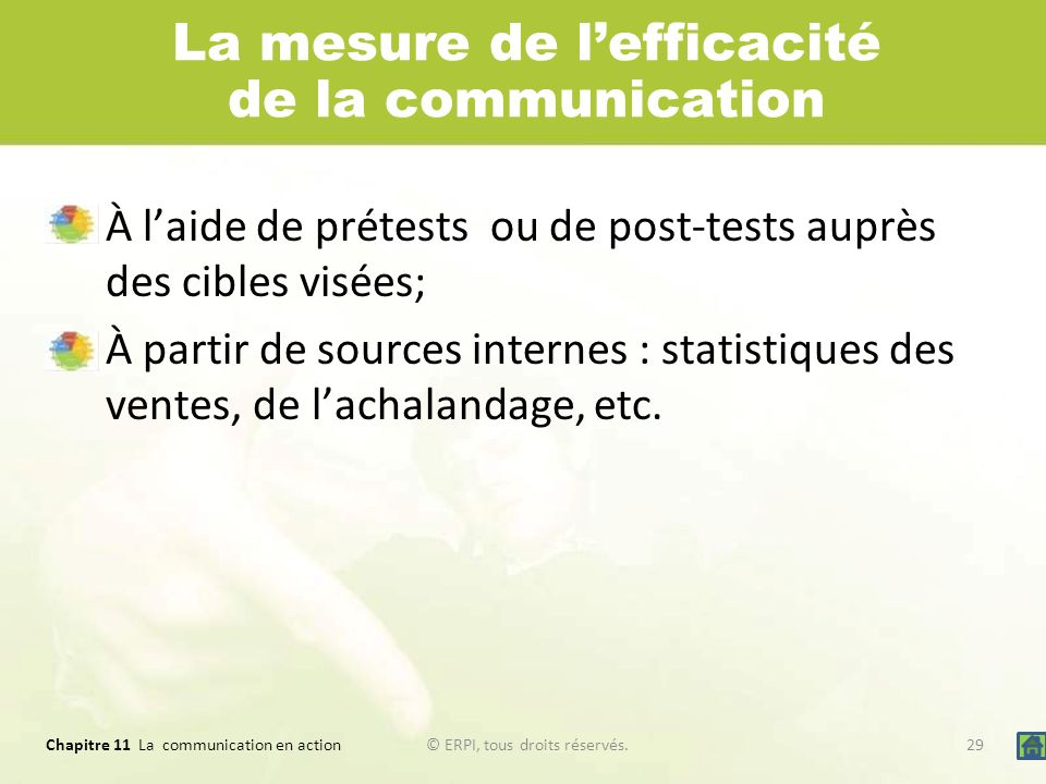La mesure de l'efficacité de la communication