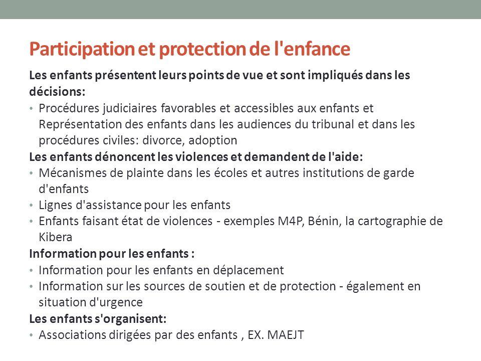 Participation et protection de l enfance