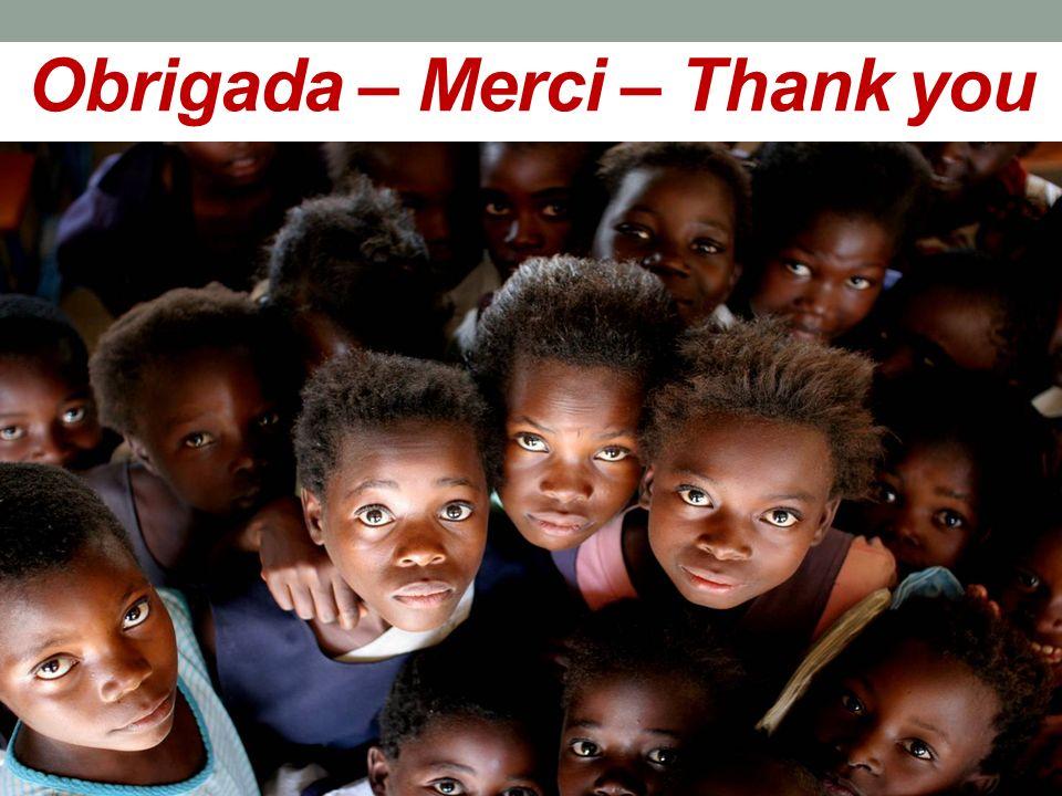 Obrigada – Merci – Thank you