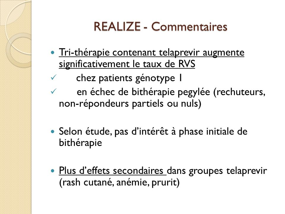 REALIZE - Commentaires