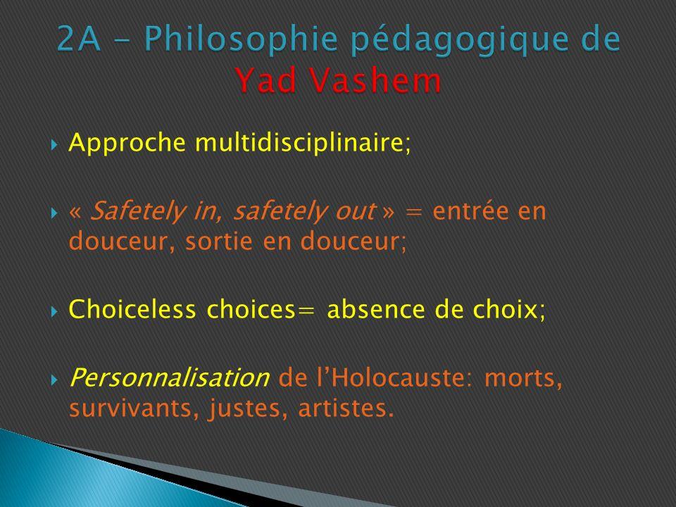 2A - Philosophie pédagogique de Yad Vashem