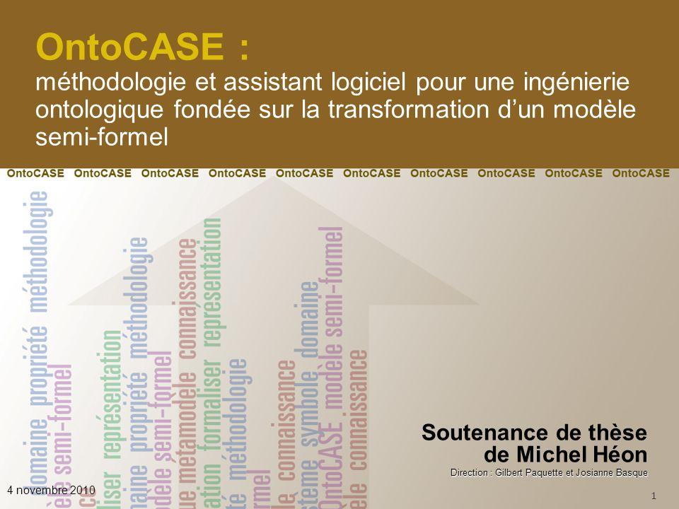 OntoCASE : méthodologie et assistant logiciel pour une ingénierie ontologique fondée sur la transformation d'un modèle semi-formel