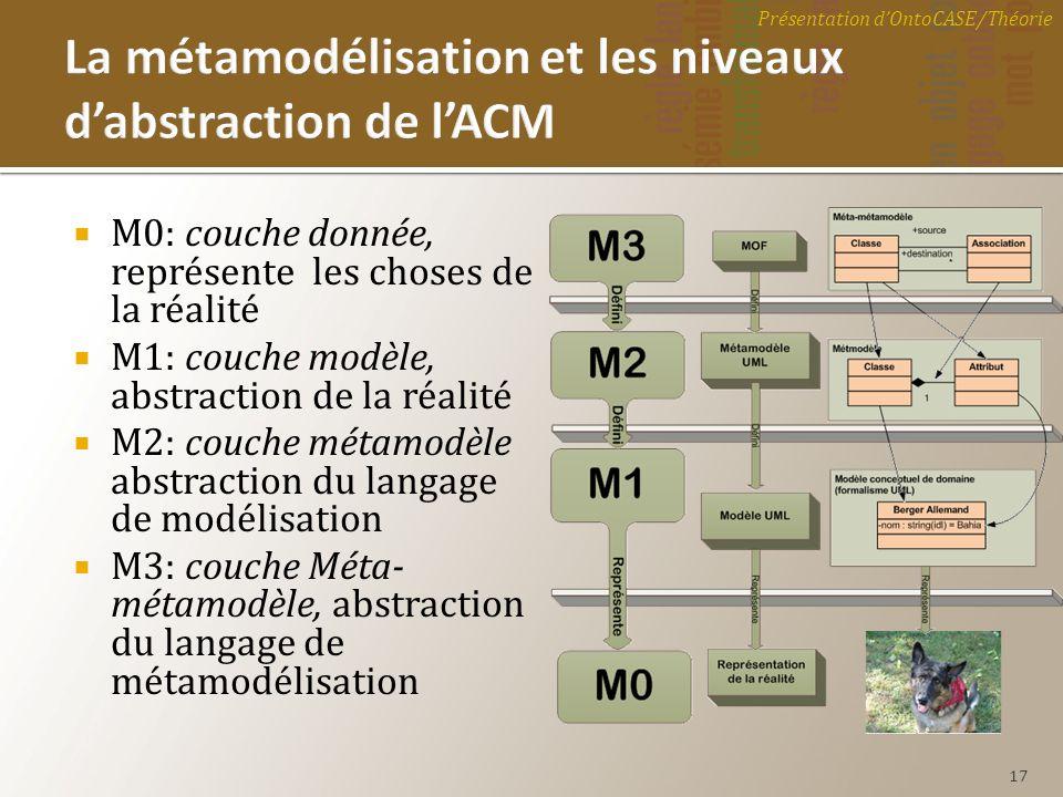 La métamodélisation et les niveaux d'abstraction de l'ACM