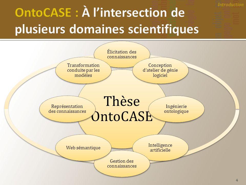 OntoCASE : À l'intersection de plusieurs domaines scientifiques