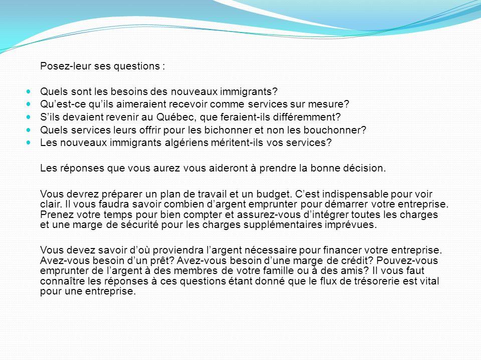 Posez-leur ses questions :