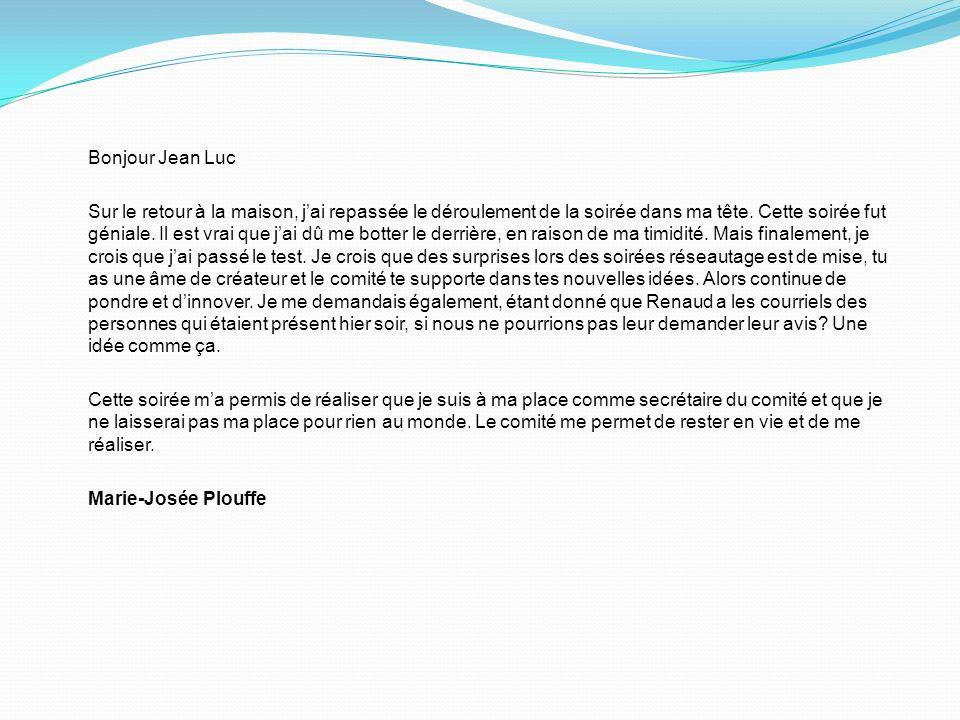 Bonjour Jean Luc