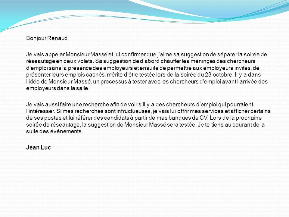 Bonjour Renaud