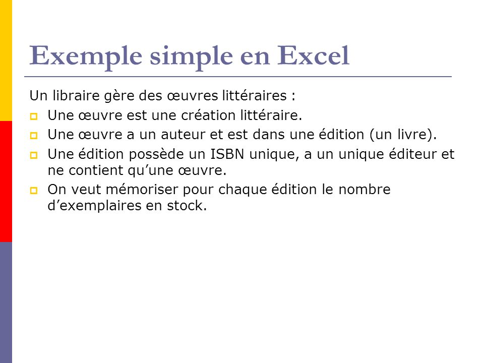 Exemple simple en Excel