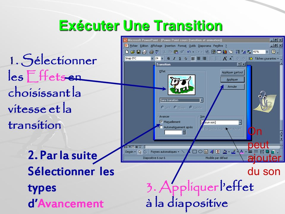 Exécuter Une Transition