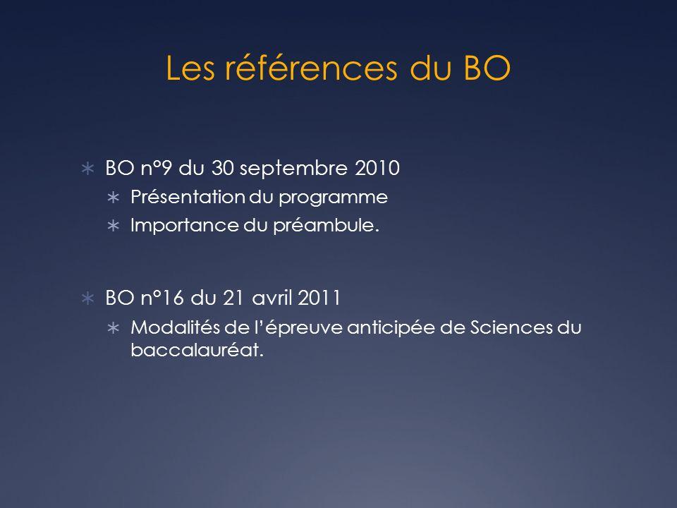 Les références du BO BO n°9 du 30 septembre 2010
