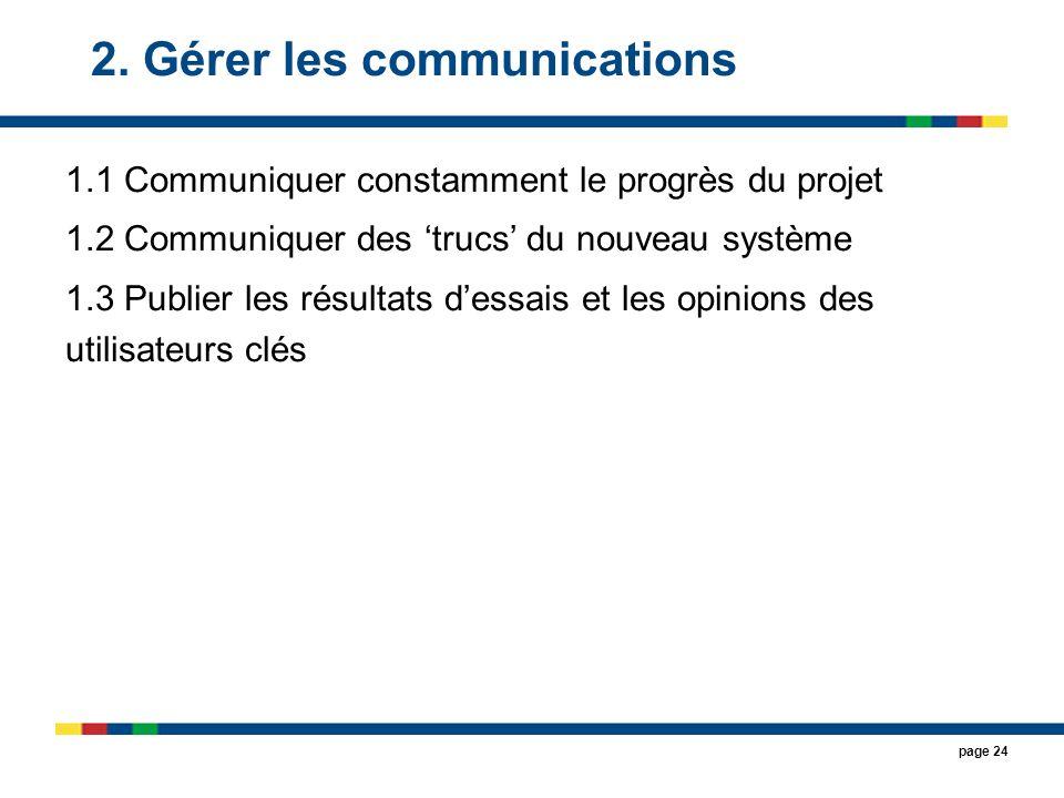2. Gérer les communications