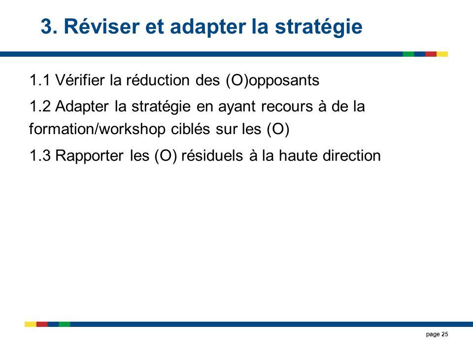 3. Réviser et adapter la stratégie