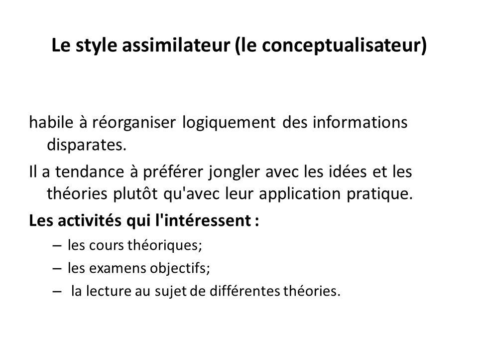 Le style assimilateur (le conceptualisateur)