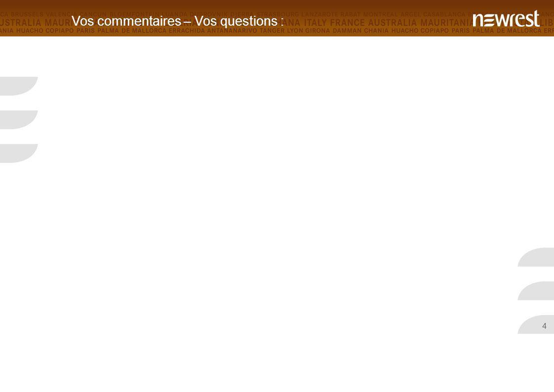 Vos commentaires – Vos questions :