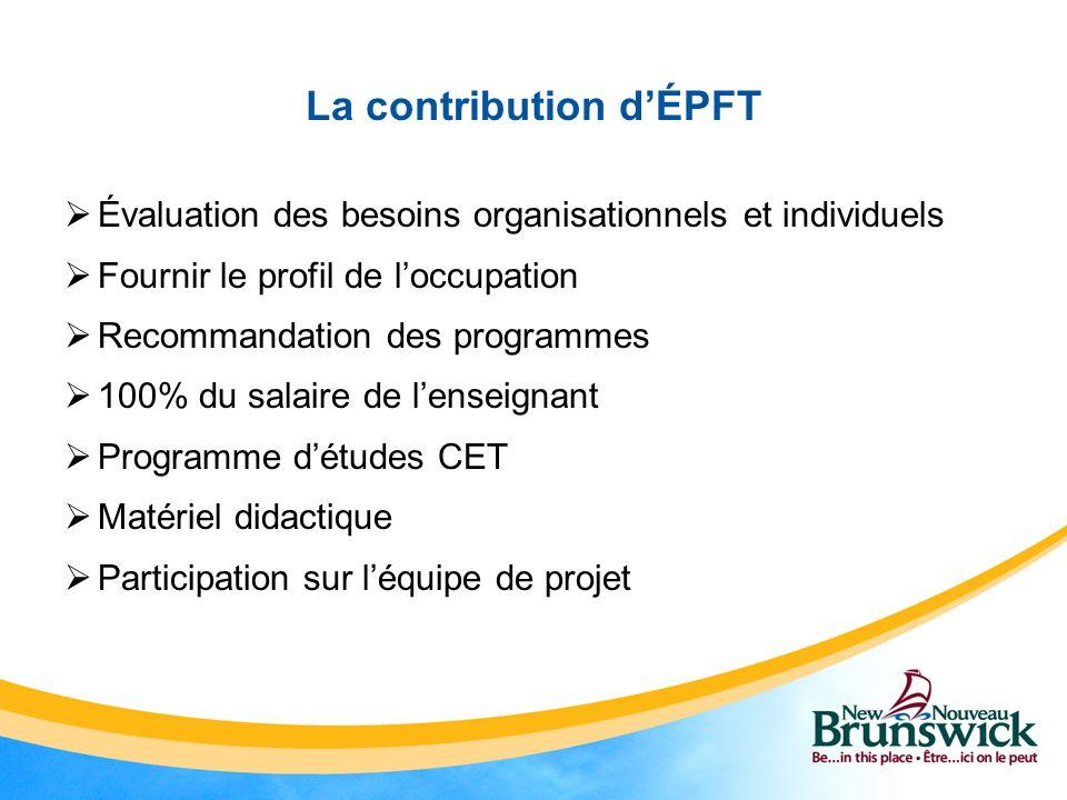 La contribution d'ÉPFT