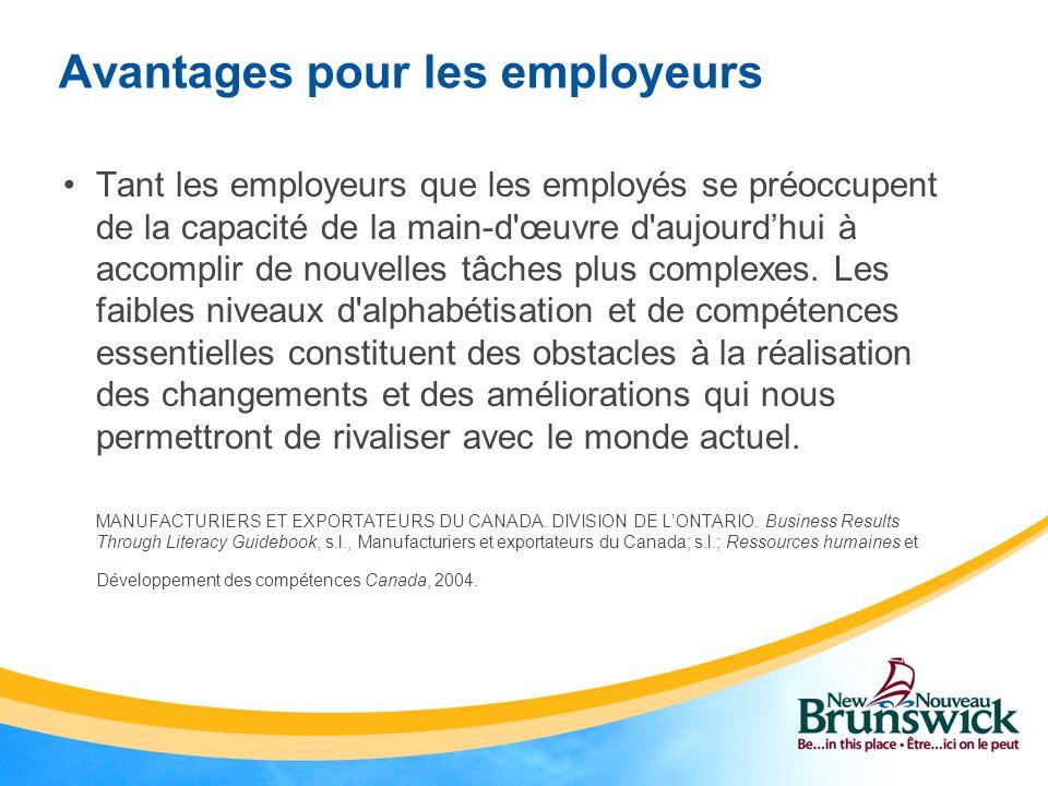 Avantages pour les employeurs