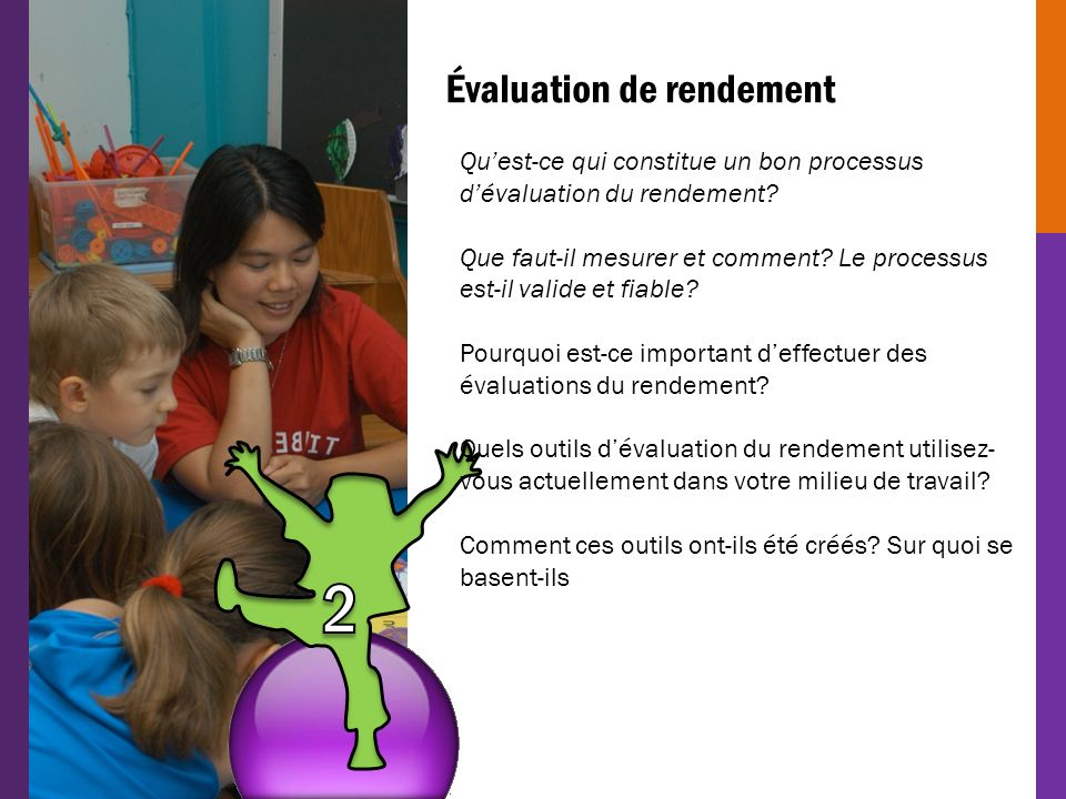 2 Évaluation de rendement