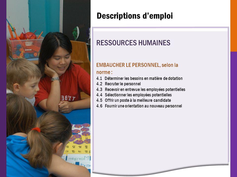 Descriptions d'emploi