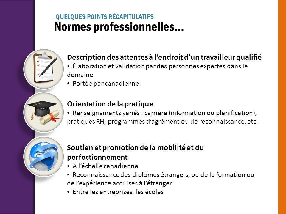 Normes professionnelles...