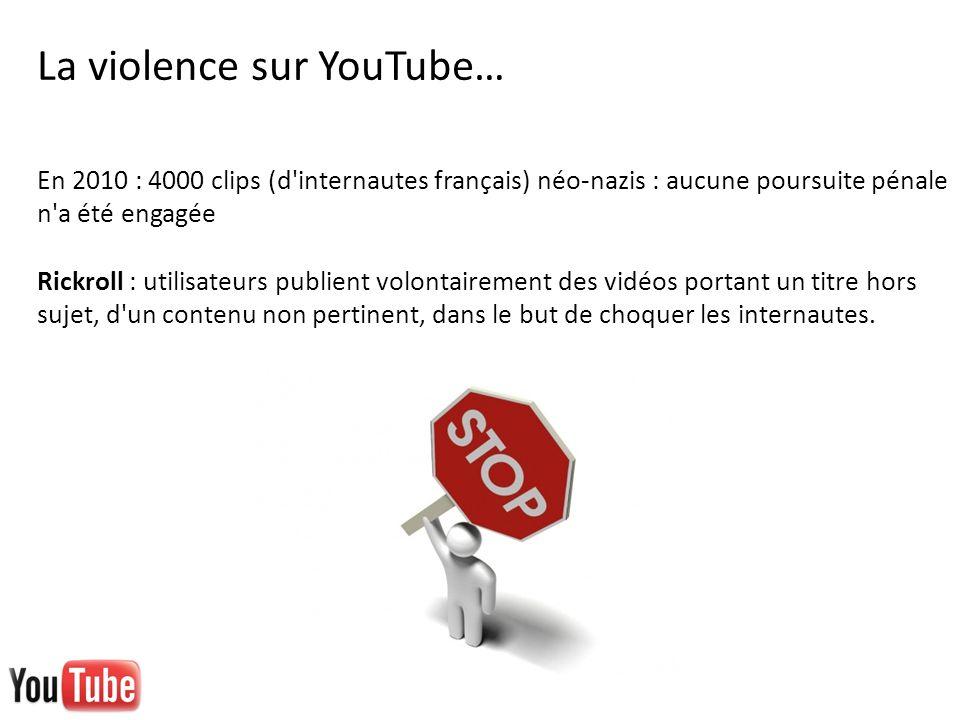 La violence sur YouTube…