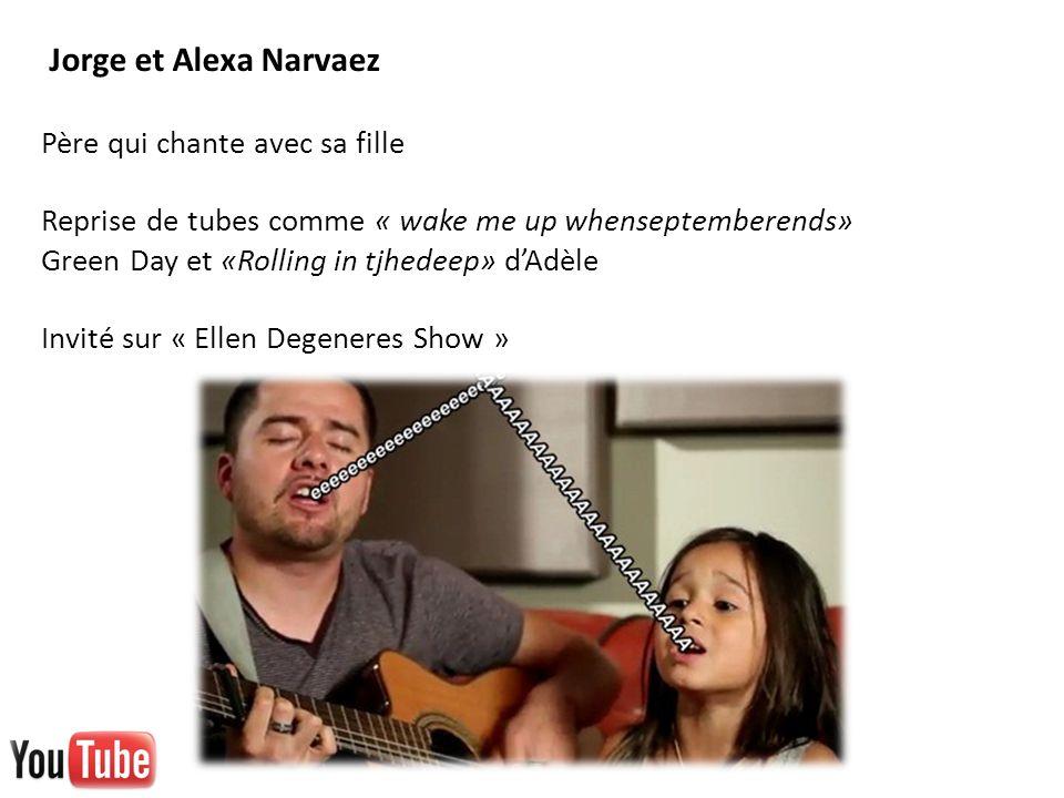 Jorge et Alexa Narvaez Père qui chante avec sa fille