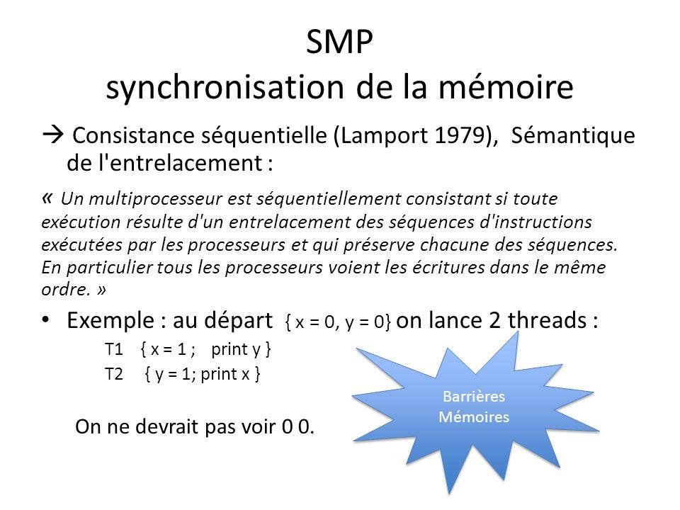 SMP synchronisation de la mémoire