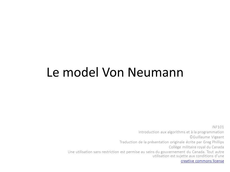 Le model Von Neumann INF101