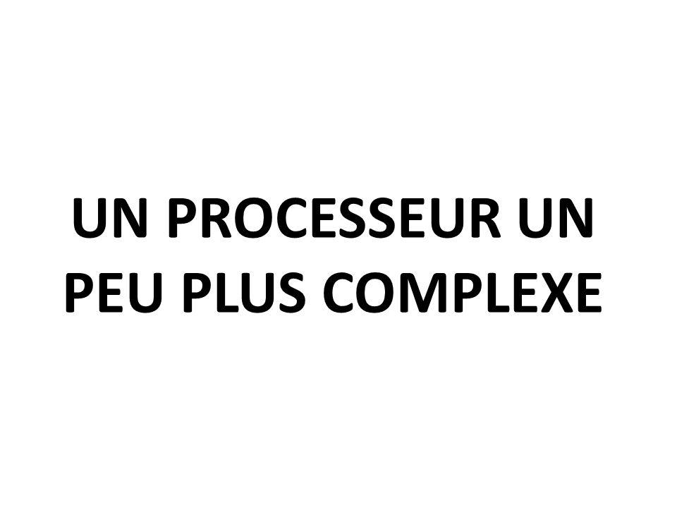 Un processeur un peu plus complexe