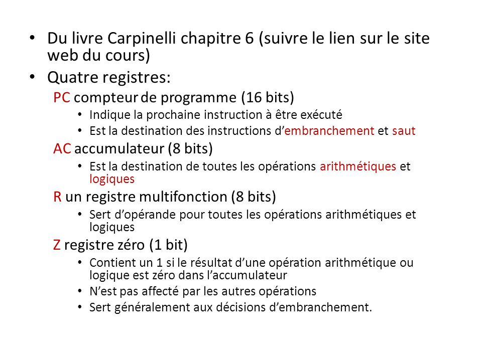 Du livre Carpinelli chapitre 6 (suivre le lien sur le site web du cours)