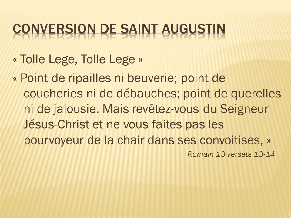 Conversion de Saint Augustin