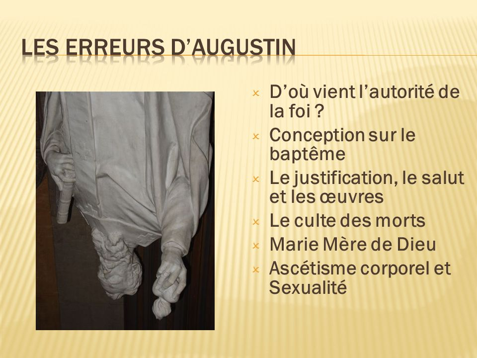 Les erreurs d'Augustin