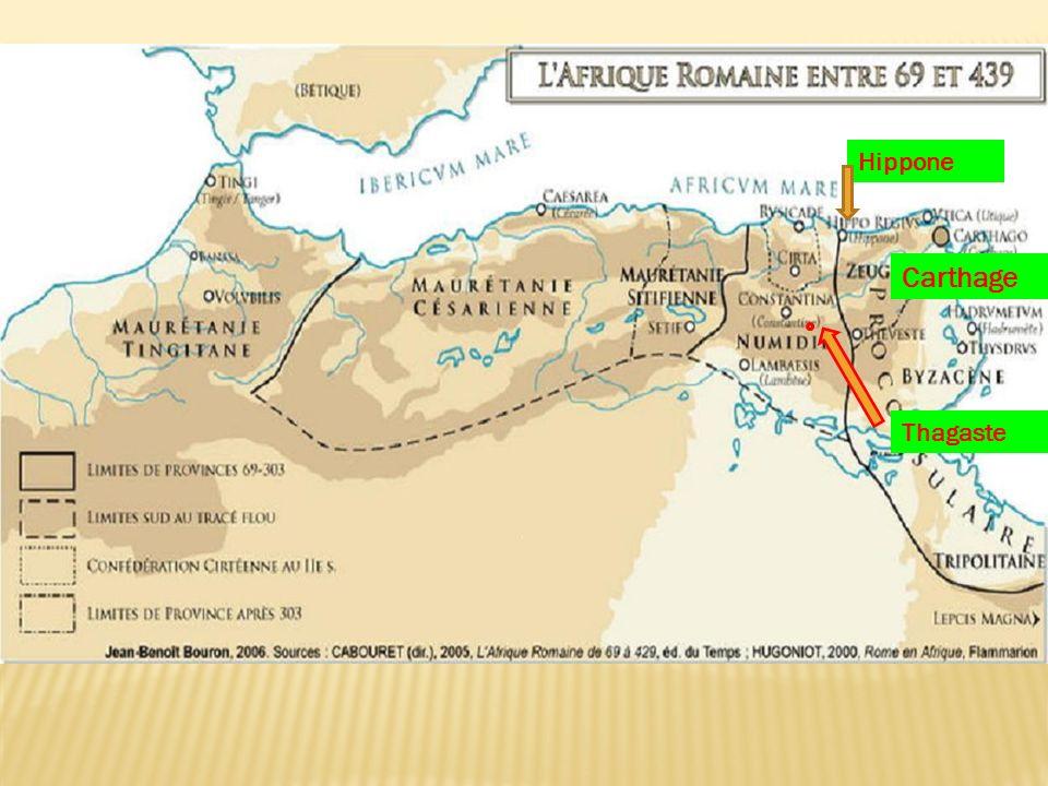 Hippone Carthage Thagaste 90km de la med 600m d 'altitude